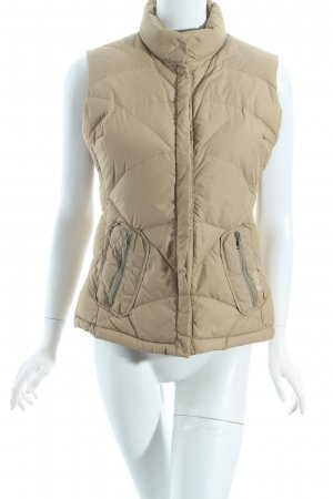 Add Down Vest beige quilting pattern simple style