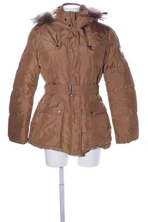 Add Chaqueta de invierno marrón estampado acolchado look casual