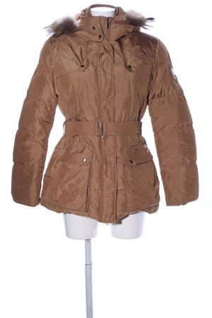 Add Winterjacke braun Steppmuster Casual-Look