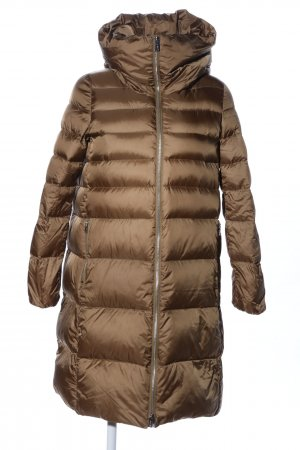Add Winter Coat brown quilting pattern casual look
