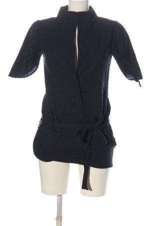 adddress Blouse met korte mouwen zwart casual uitstraling