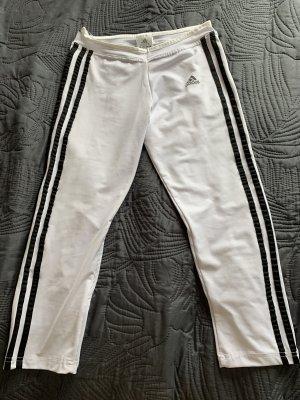 Adidas Pantalone da ginnastica bianco-nero