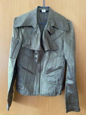 Adele Fado Chaqueta de motociclista azul cadete Seda