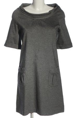 Adele Fado Robe à manches courtes gris clair moucheté style décontracté