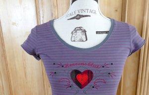 Adelheid T-shirt gris-gris violet coton
