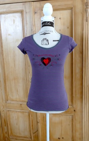 Adelheid T-Shirt grey-blue violet cotton