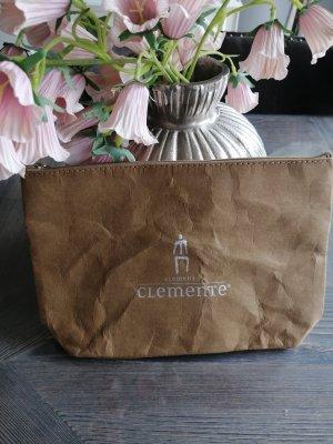 Adelheid Makeup Bag dark grey-beige
