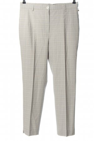 Adelina Jersey Pants light grey check pattern casual look