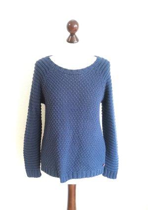 Adenauer & Co Sweter z grubej dzianiny ciemnoniebieski-niebieski