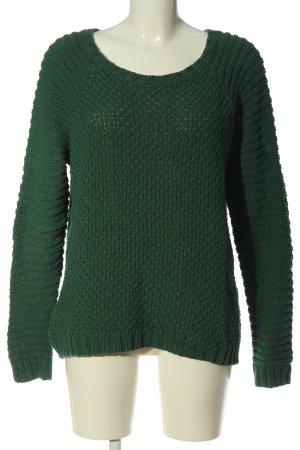 Adenauer & Co Pullover a maglia grossa verde stile casual