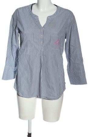 Adenauer & Co Hemdblouse blauw-wit gestreept patroon zakelijke stijl