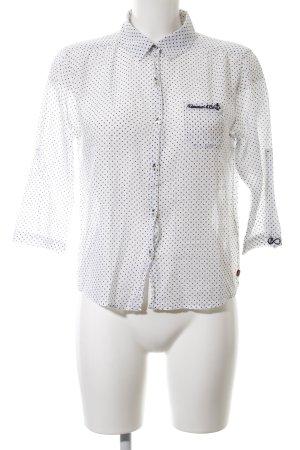 Adenauer & Co Shirt Blouse white-black spot pattern elegant