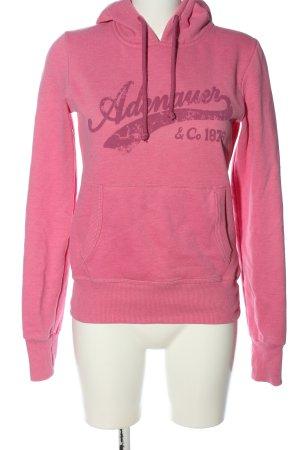 Adenauer & Co Sweat à capuche rose style décontracté