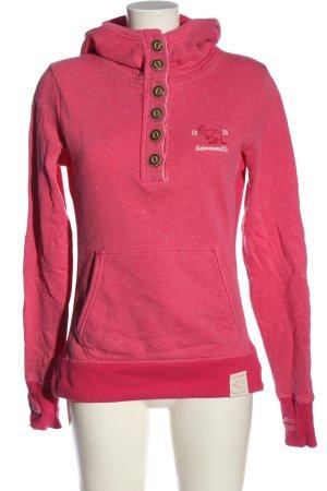 Adenauer & Co Felpa con cappuccio rosa puntinato stile casual