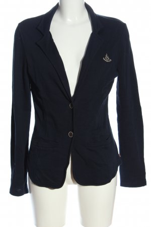 Adenauer & Co Short Blazer blue embroidered lettering casual look
