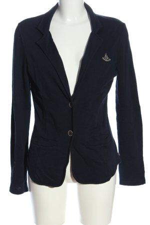 Adenauer & Co Blazer court bleu lettrage brodé style décontracté