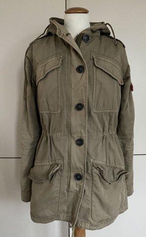 Adenauer & Co Parka green grey-khaki cotton