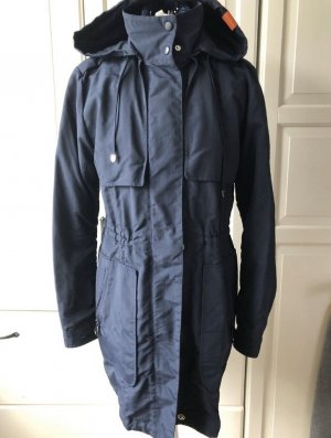 Adenauer & Co Capuchon jas donkerblauw