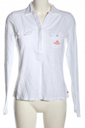 Adenauer & Co Polo blanc-rouge style décontracté