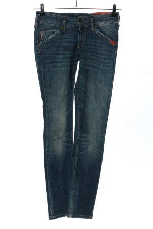 Adenauer & Co Jeans cigarette bleu style décontracté