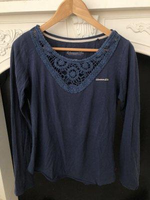 Adenauer & Co Długa koszulka ciemnoniebieski