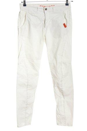 Adenauer & Co Pantalon en jersey blanc-orange clair style décontracté