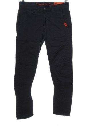Adenauer & Co Pantalon en jersey noir style décontracté