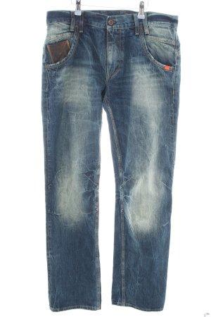 Adenauer & Co Jeans coupe-droite bleu style décontracté