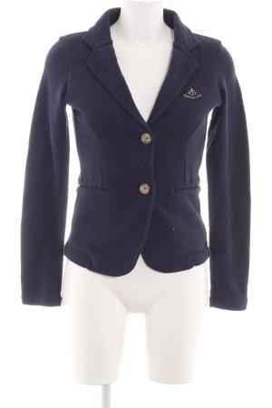 Adenauer & Co Blazer sweat bleu style d'affaires