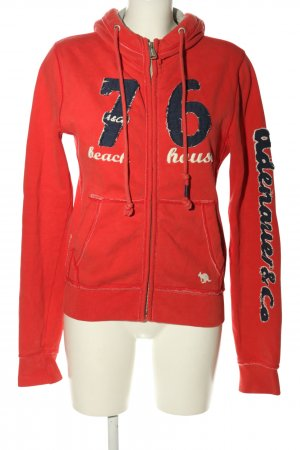 Adenauer & Co Giacca fitness rosso-blu Stampa a tema stile casual