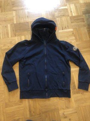 Adenauer & Co Sweat Jacket dark blue cotton
