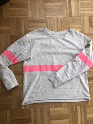 Adenauer & Co Sweatshirt lichtgrijs-neonroos