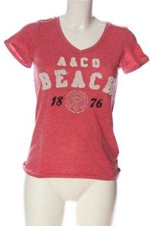 Adenauer & Co T-shirt różowy Melanżowy W stylu casual