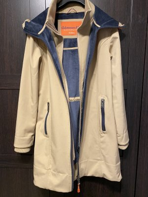 Adenauer & Co Hooded Coat beige-dark blue