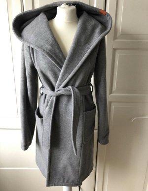 Adenauer & Co Manteau en laine gris