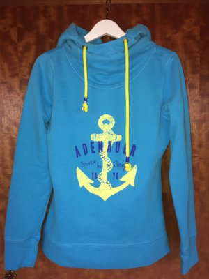 Adenauer & Co Hooded Sweater turquoise-light blue