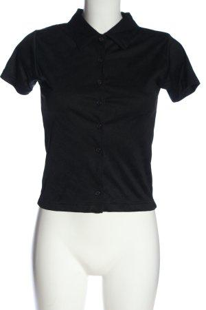 adessa Koszula z krótkim rękawem czarny W stylu casual