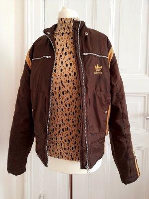 Veste motard cognac-brun sable polyester