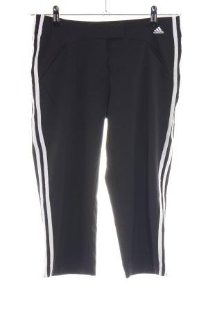 Adidas 3/4-Hose schwarz-weiß Casual-Look