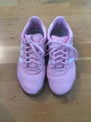 Adidas Originals Basket à lacet rose clair-blanc