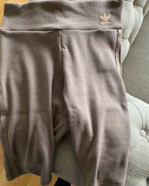 Adidas Pantaloncino a vita alta marrone chiaro-beige