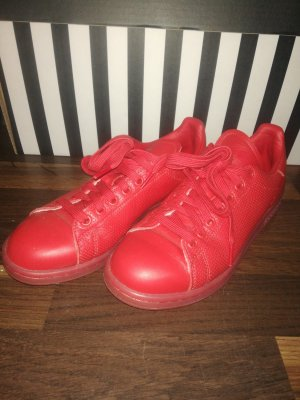 adidas stan smith Basket à lacet rouge