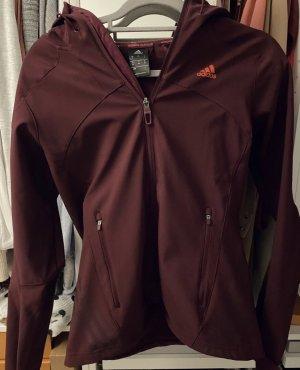 Adidas Kurtka softshell bordo-brązowo-czerwony