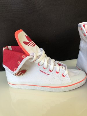 Adidas High Top Sneaker white-magenta