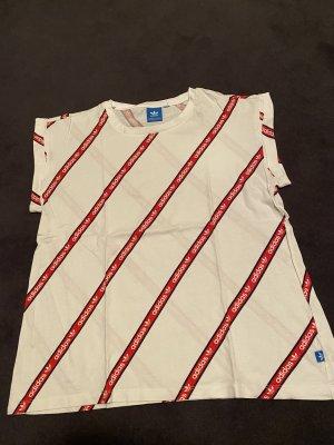 Adidas Originals T-shirt biały-ceglasty