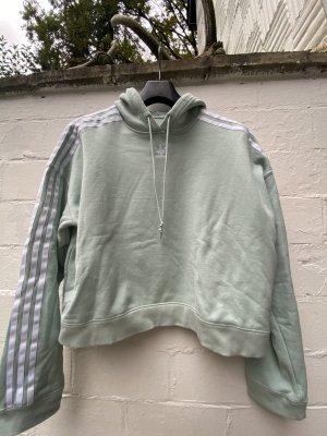 Adidas Bluza dresowa szaro-zielony Bawełna