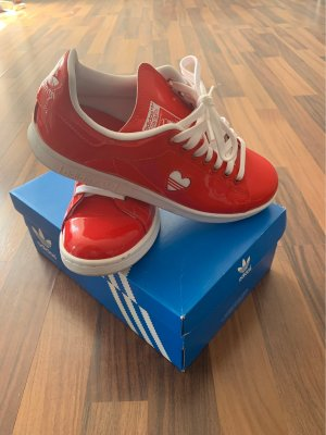 adidas stan smith Lace-Up Sneaker white-red