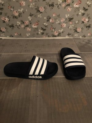 Adidas Sandalias de playa blanco-azul oscuro