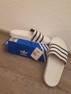 Adidas Adiletten weiß/schwarz