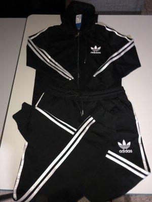 Adidas Kurtka z kapturem czarny-biały